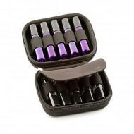 Borseta neagra pentru 12 sticlute de 5/10/15 ml - model MH03