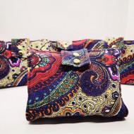 Port-roll-on textil color pentru 10 sticlute roll-on