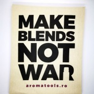 Sacosa bumbac MAKE BLENDS NOT WAR - negru