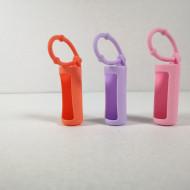 Protectii colorate din silicon pentru sticlute 10 ml -ROZ/LILA/ORANGE
