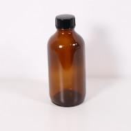 Recipient sticla bruna 240 ml cu capac