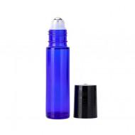 Recipiente roll-on din sticla albastra 10ml - SET 5 bucati