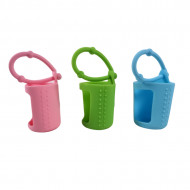 Protectii colorate din silicon pentru sticlute 15 ml - VERDE/ROZ/BLEU