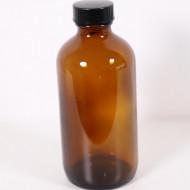 Recipient sticla bruna 480 ml cu capac
