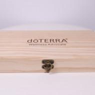 Cutie din lemn pentru 72 sticlute mostre