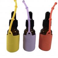 Protectii colorate din silicon pentru sticlute 15 ml GALBEN/LILA/ORANGE