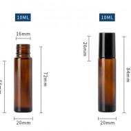 Recipiente roll-on din sticla bruna 10ml - SET 5 bucati