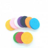 Dischete colorate rezerva aromadifuzor auto 20 mm - set 10 buc.