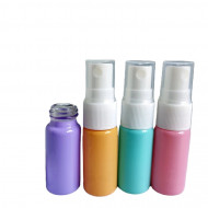 Recipient spray sticla color pastel 10 ml - set 4 bucati