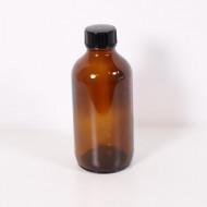 Recipient sticla bruna 120 ml cu capac