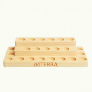 Suport doTERRA din lemn de pin 3 etaje / 17 sticlute de 15 ml, 4 sticlute de 5 ml, 2 sticlute de 10 ml