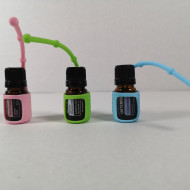 Protectii colorate din silicon pentru sticlute 5 ml - VERDE/ROZ/BLEU