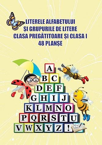 Literele Alfabetului Grupurile Litere Clasa Pregatitoare 78 Planse