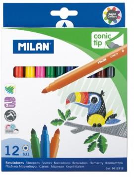 Carioca 12 culori vârf conic Milan