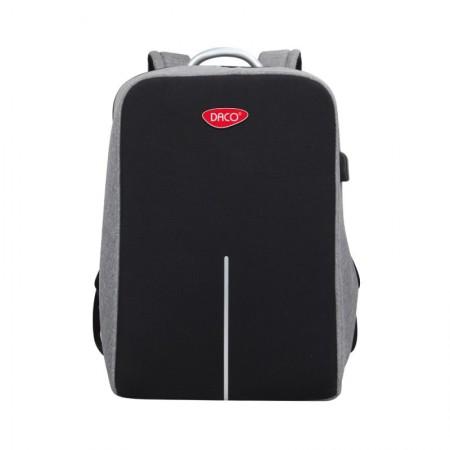 Ghiozdan adolescenti cu sectiune pentru laptop negru DACO 44 cm