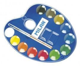 Acuarele paletă 12 culori 25 mm Milan