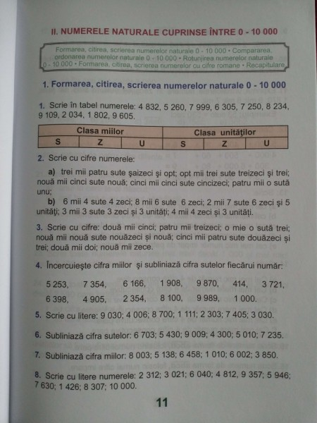 Exerciţii şi probleme, Clasa a III-a - Culegere de matematică