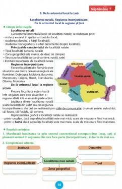 Geografie, Clasa a IV-a - Caiet de lucru