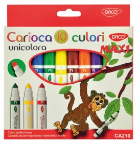 Carioca 10 culori Maxi Unicolora Daco