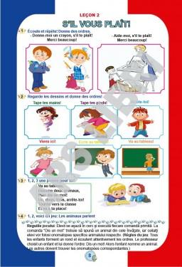 Limba franceză, Clasa I - Caiet de lucru