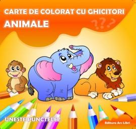 Carte de colorat cu ghicitori - Animale