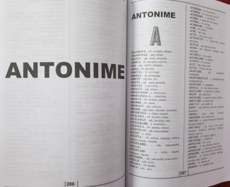 Dictionar de sinonime antonime omonime si paronime