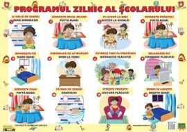 Planșa Programul zilnic al școlarului