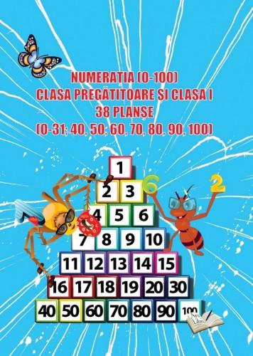 Numerația (0-100), Clasa pregătitoare și clasa I - 38 planșe CIFRE