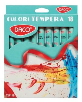 Culori tempera 18 culori Daco