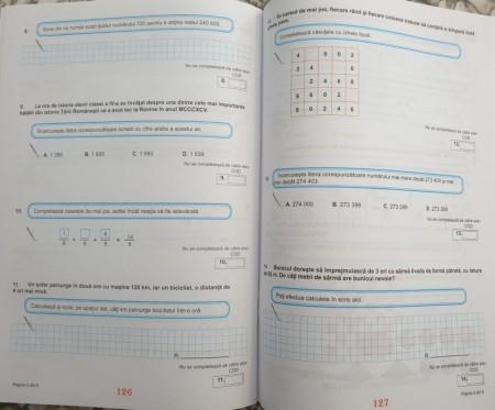 Teste de evaluare națională, Clasa a IV-a - Limba și literatura română, Matematică