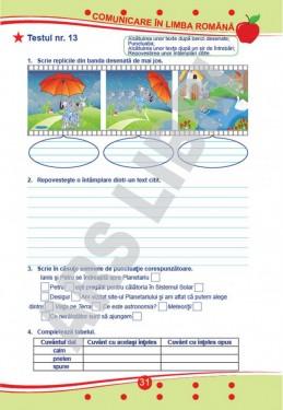 Teste de evaluare, Clasa II (descriptori de performanță) - Comunicare în limba română, Matematică și explorarea mediului, Dezvoltare personală