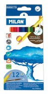 Creion color 12 acuarela Milan
