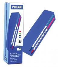 Marker pentru tablă magnetică set 4 + burete magnetic Milan