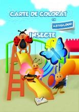 Carte de colorat cu abțibilduri - Insecte
