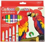 Carioca 18 culori Unicolora Daco