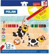 Creion color 12 culori MAXI hexagonal