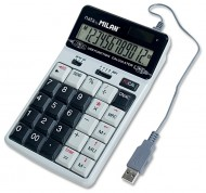 Calculator 12 digits Milan 1504128 - USB