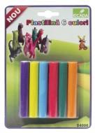 Plastilină 6 culori Ecada