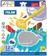 Creion color 12 culori super soft Milan