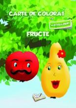 Carte de colorat cu abțibilduri - Fructe