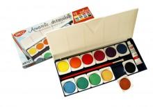 Acuarele 12 culori pastile detașabile Daco