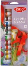 Culori guaşă 12 culori Daco