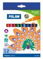 Carioca 12 culori Milan Fine