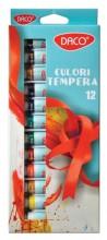 Culori tempera 12 culori Daco