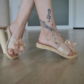 Papuci MDM1144 Nude
