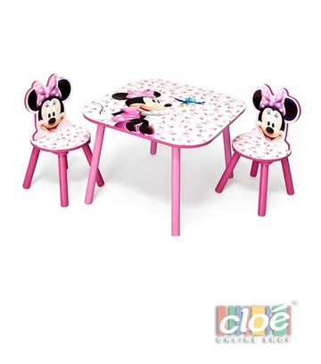 Poze Set masuta si 2 scaunele Disney Minnie Mouse Pink Fruits
