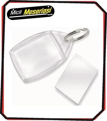 Breloc din plastic transparent, dreptunghic