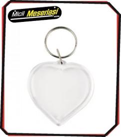 Breloc plastic inima