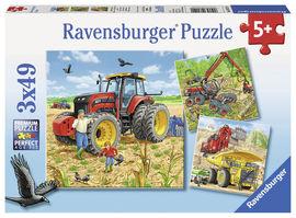 Puzzle masinarii, 3x49 piese