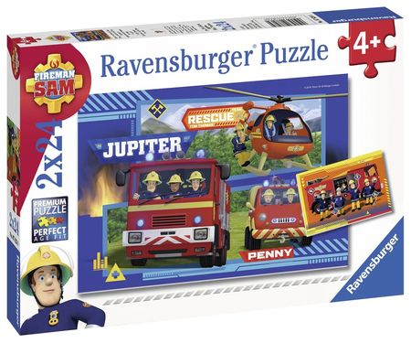 Puzzle Echipa Pompier Sam,2X24Piese